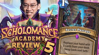 MOST OP CARD IN HS EVER!? - Scholomance Academy Review #5 | Hearthstone
