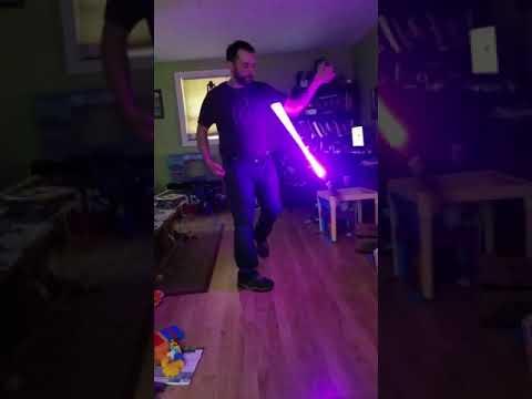 Lightsaber flow wand practice