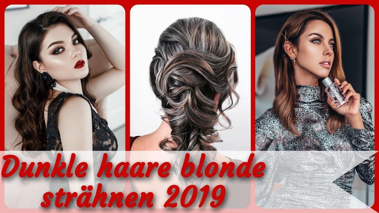 Dunkelbraune haare blonde strähnchen