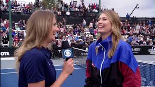 Maria Sharapova's first interview after announcing retirement