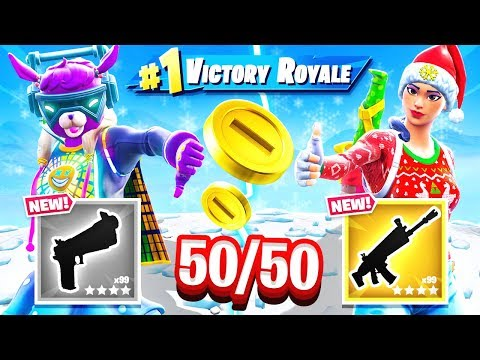 RANDOM 50/50 Loot CHALLENGE *NEW* Game Mode in Fortnite Battle Royale