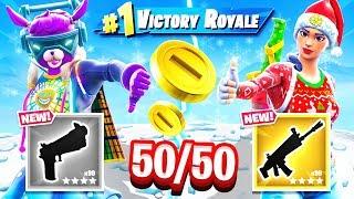 RANDOM 50/50 Loot CHALLENGE *NEW* Game Mode in Fortnite Battle Royale