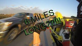 HOW TO WHEELIE DIRTBIKE 6 MILES LONG -MUST SEE-