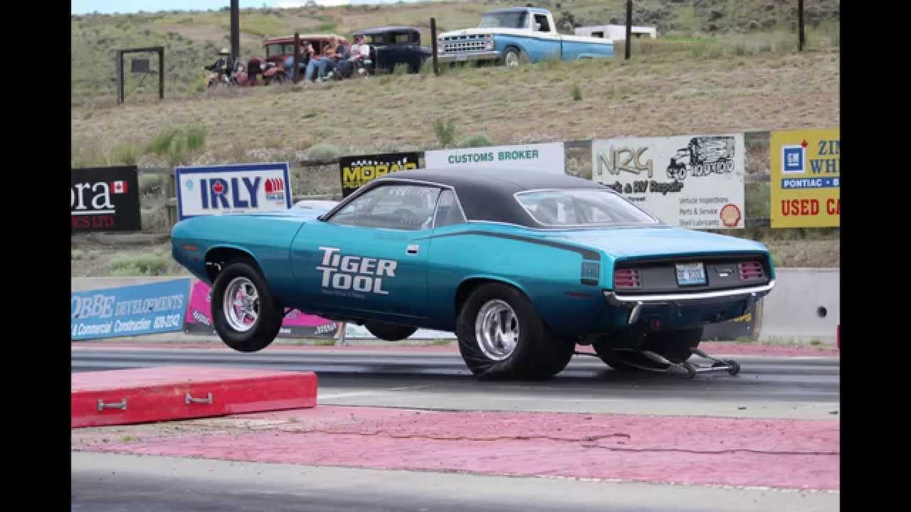 1970 Plymouth Hemi Cuda Drag Racing - Ashcroft 2014 - YouTube