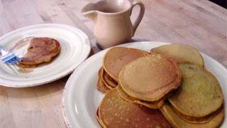 Homemade Pumpkin Pancakes From Scratch Recipe - Laura Vitale - Laura In The Kitchen Episode 65