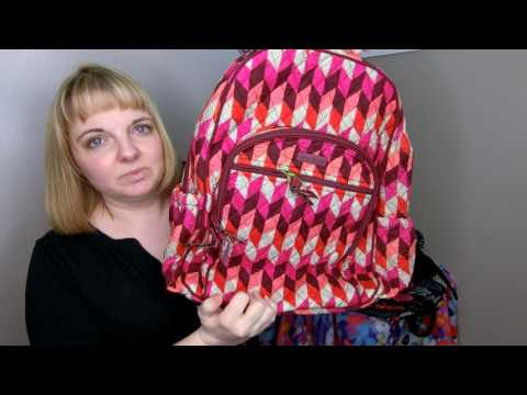 My Huge Collection of Vera Bradley Campus Tech Backpack and Review