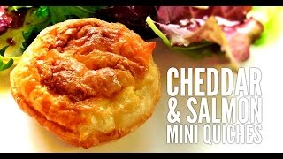 Cheddar And Salmon Mini Quiches (quick And Easy To Prepare - Foolproof Recipe)
