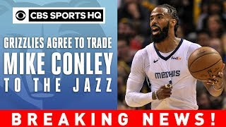 mike conley traded to utah jazz breaking news cbs sports hq