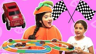 فوزي موزي وتوتي | المندلينا لعبة السيارات | Cars game