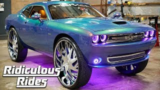 Pimped Dodge Challenger Boasts MASSIVE 34-Inch Rims | RIDICULOUS RIDES