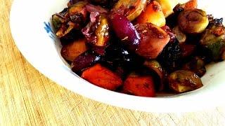 Warm Salad Recipe - Brussels Sprouts Salad - Healthy Salad Recipe - Hissingcooker.com