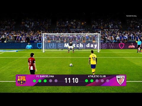 PES 2020 | Barcelona vs Athletic Bilbao | Penalty Shootout ...