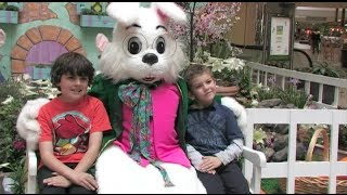 The Easter Bunny In Modesto, California - The Vintage Faire Mall Celebrates The Easter Season