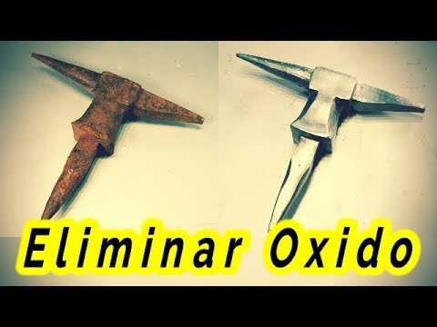 Como eliminar el óxido de hierro || Old Rusty Anvil Restoration