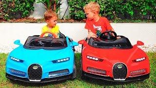 Nikita kecil naik mobil dan Magic mengubah mobil berwarna