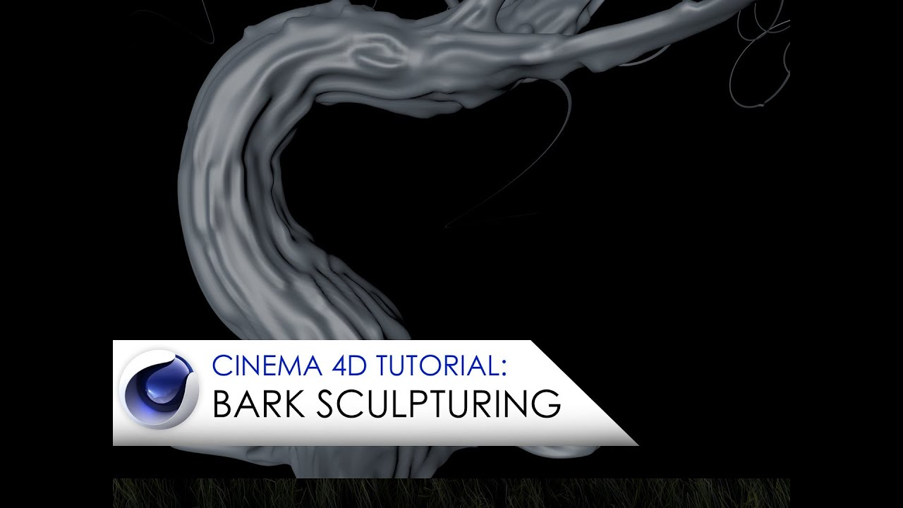 Cinema 4D tutorial sculpturing tree bark