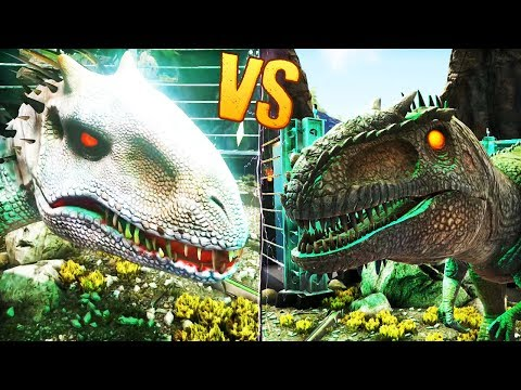 INDOMINUS REX VS GIGANOTOSAURUS   Ark: Survival Evolved Dinosaur Battles