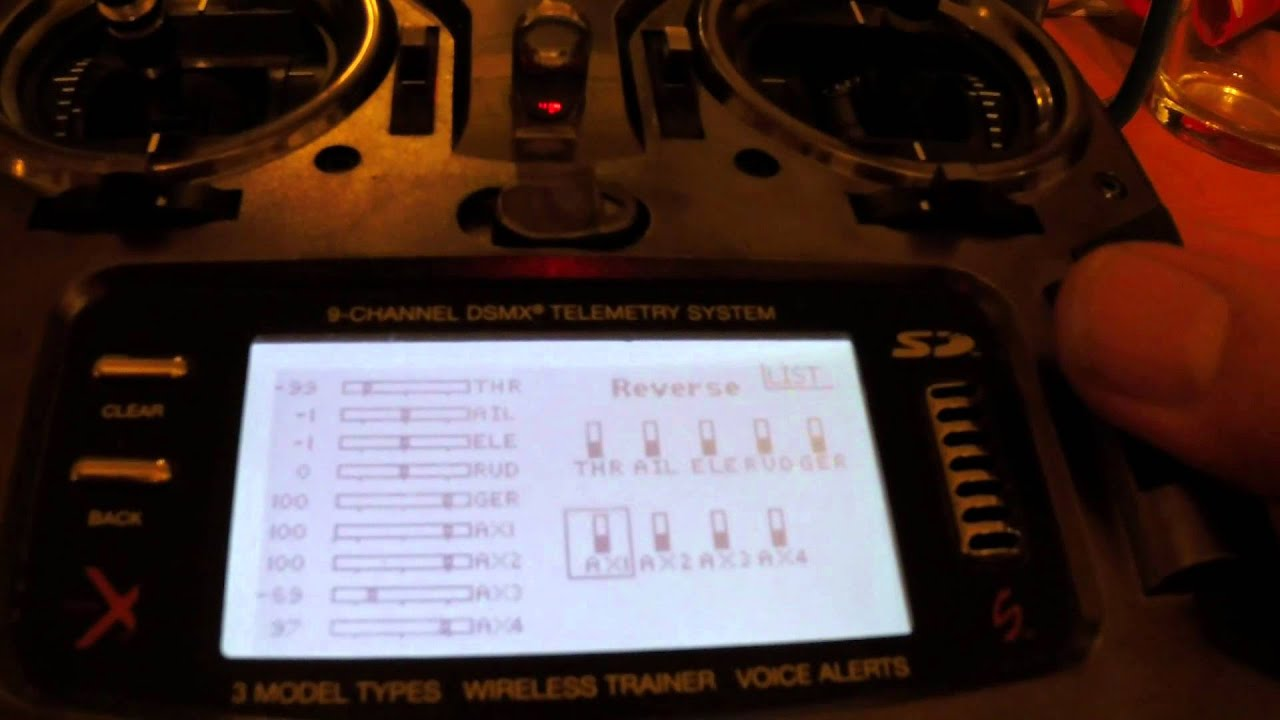 SAFE RX Setup on Spekrum DX6, DX9, DX18 Transmitters-(Step-by-Step)