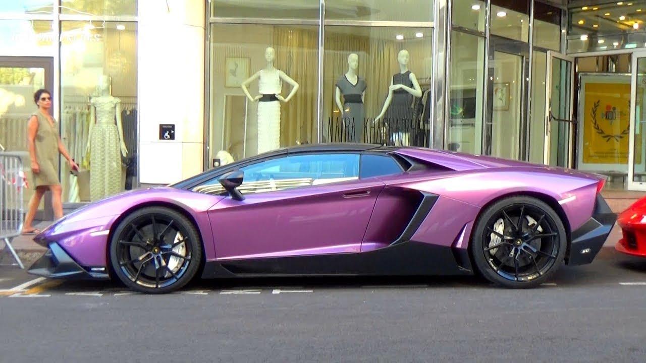 Purple Or Pink Lamborghini Aventador With Capristo Exhaust