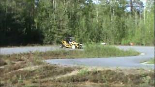 Drifting with my buggy on a karting track.