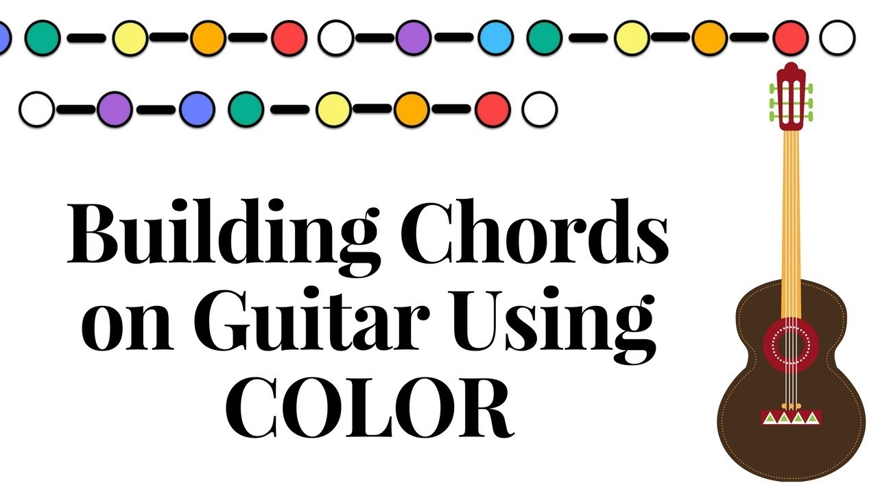 Chords Build Major Scale Triads On Guitar Using Color Grand