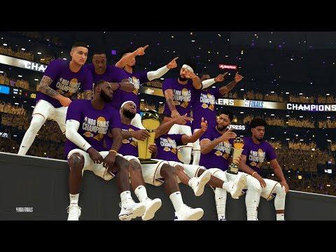 NBA 2K20 NBA Finals Championship Celebration | New Animations