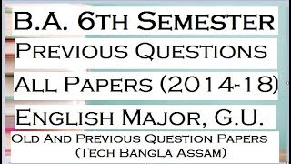 Download How To Download Previous Question Paper For Ba