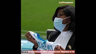 Violences faites aux femmes : en visite à Marseille, la ministre salue l'engagement de l'OM