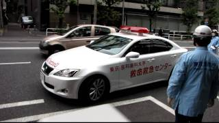 PA連携現場を後にする東京医科歯科大学救急救命センターのLexusドクター...