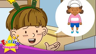 What does she look like? (At the amusement park) - Easy Dialogue - English video for Kids