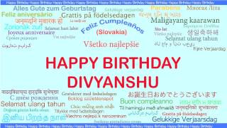 Divyanshu   Languages Idiomas - Happy Birthday