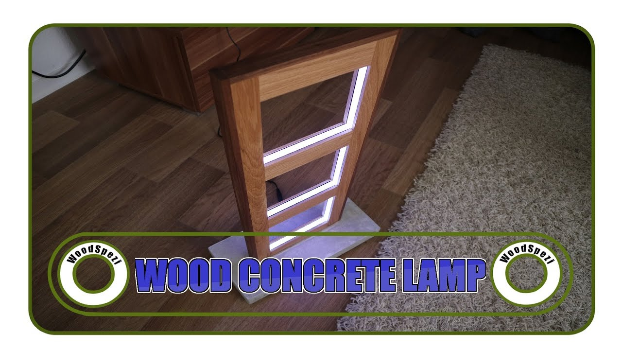 Lampe Selber Bauen Holz Und Beton Diy Youtube
