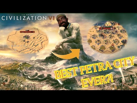 Best Civilization 6 Petra City of All Time??? | Civ 6 Mansa Musa Desert Strategy |