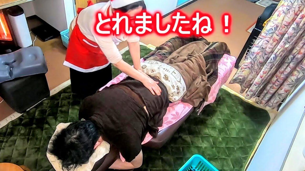 【エビぞり】のけぞる脇腹の激痛が1回で消失!テツヤさんに背オイル2/2【りらく屋】