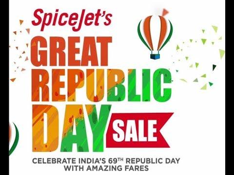 SpiceJet's Great Republic Day Sale