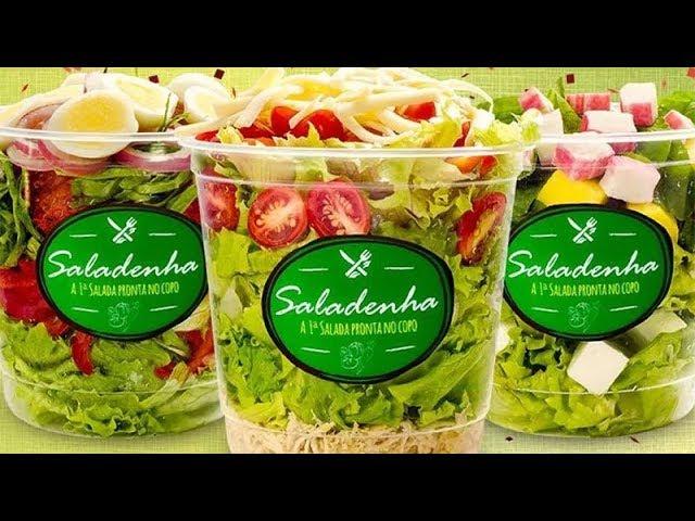 Franquia de saladas que cabem em um potinho de Saladenha