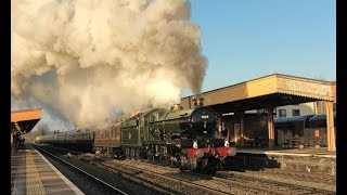 7029 'Clun Castle' Awakens Leamington Spa ! The Bath Xmas Market !