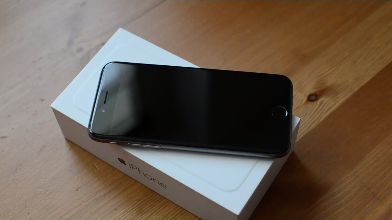 apple iphone 6 128gb space gray unboxing first look youtube. Black Bedroom Furniture Sets. Home Design Ideas