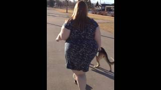 Ssbbw Foxy Roxxie Waddling in a Short Dress