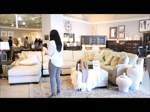 SHOP WITH ME| NEW LIVING ROOM INTERIOR SPRING REFRESH + STYLING TIPS: ASHLEY HOMESTORE