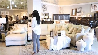 Shop With Me| New Living Room Interior Spring Refresh   Styling Tips: Ashley Homestore
