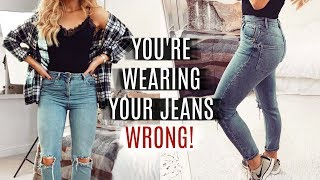 YOU'RE WEARING YOUR JEANS WRONG! FASHION HACKS 2019