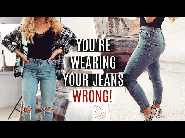 YOU\'RE WEARING YOUR JEANS WRONG! FASHION HACKS 2019