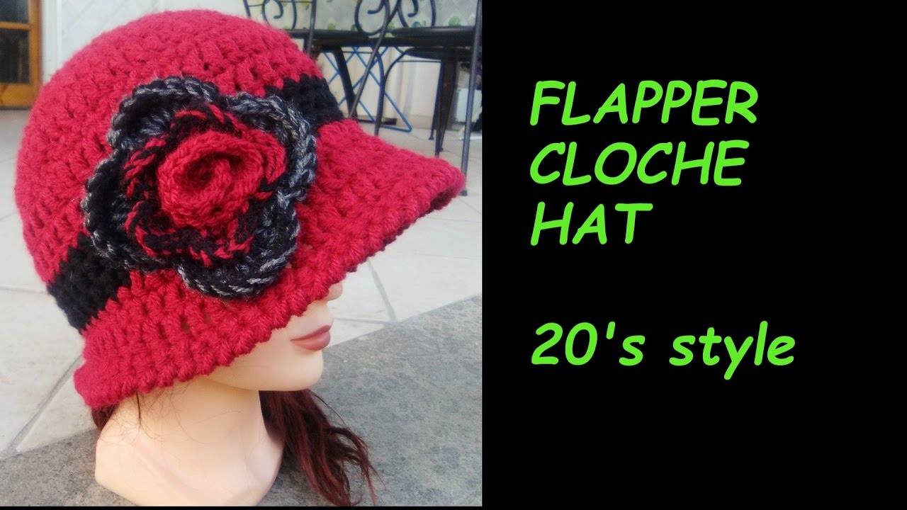 Flapper Cloche Hat 20s Style English Version Youtube