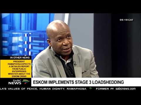 Eskom implements stage 3 loadshedding