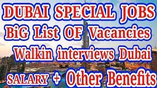 Dubai Special List of Walk in interviews Sept 2020