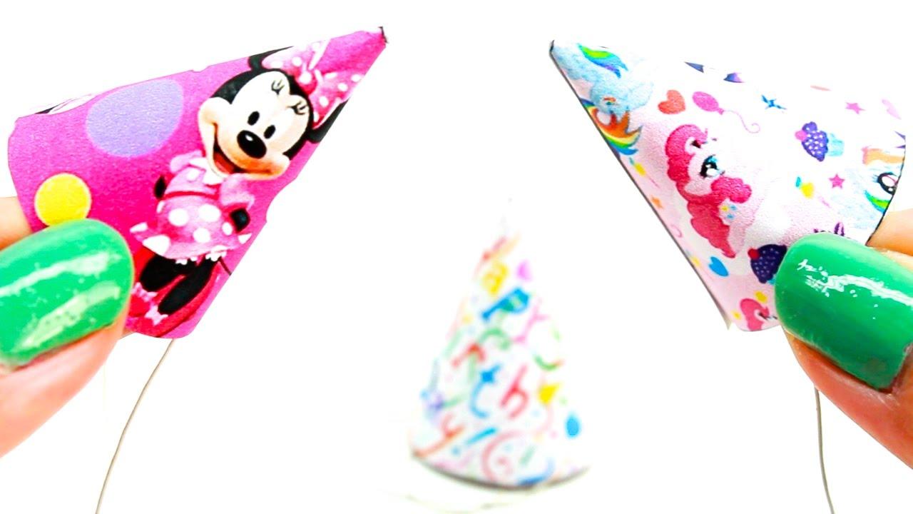 Miniature Dollhouse Birthday Party Hats Tutorial My Little Pony