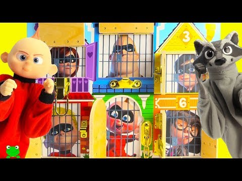 The Incredibles 2 Rescue Baby Jack Jack and Raccoon