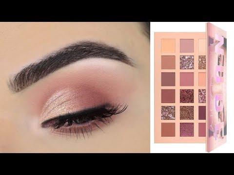 Huda Beauty New Nude Eyeshadow Palette | Soft Eye Makeup Tutorial