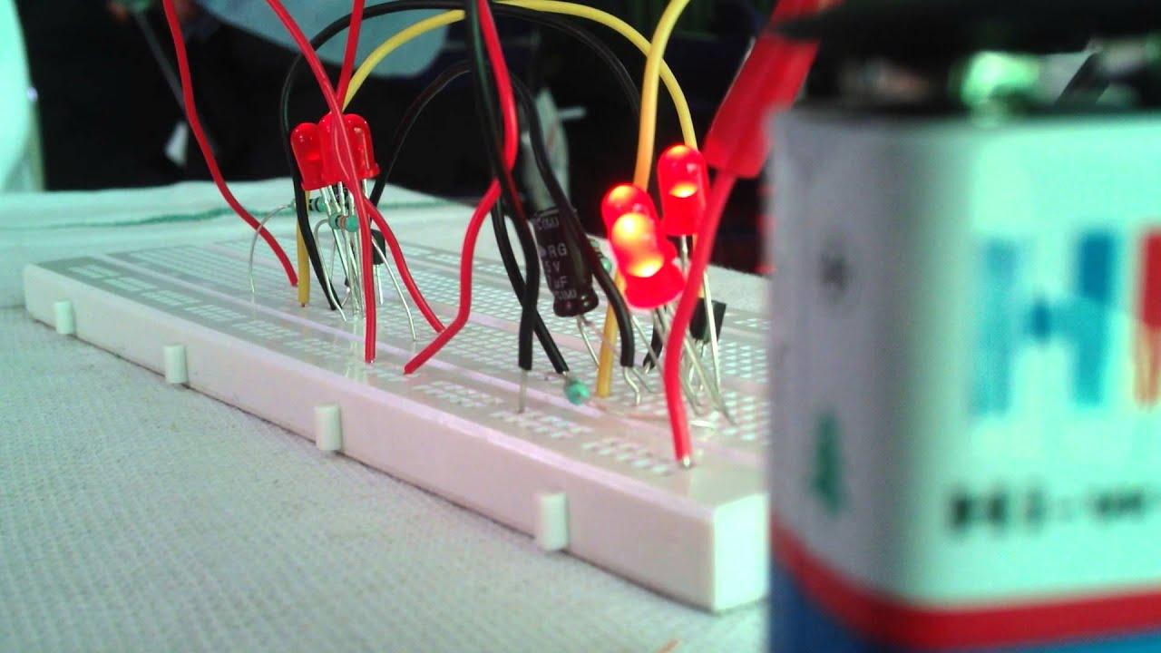 Electronic Circuit Of Dancing Light